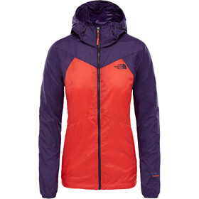 The North Face Flyweight Hoodie Dam fire brick red/galaxy purple
